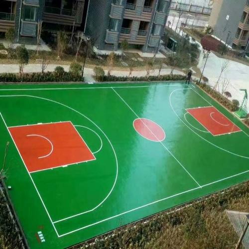 万科小区篮球场施工