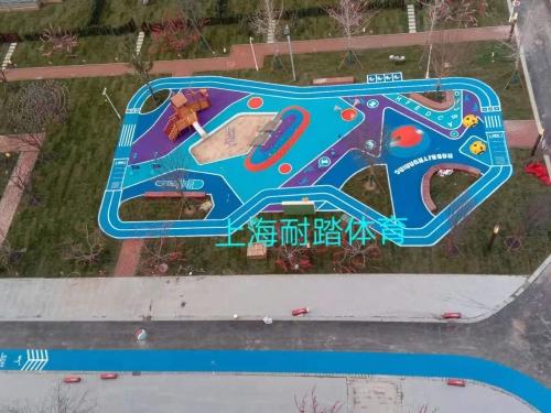 小区儿童游乐场EPDM塑胶跑道地坪材料价格厂家施工