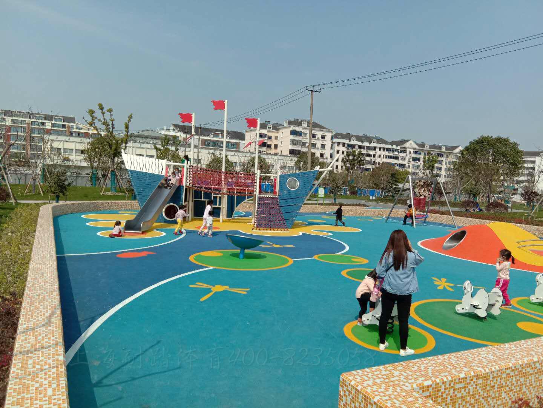 小区公园儿童游乐场设施设备塑胶地坪EPDM塑胶跑道施工